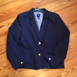 Never worn navy blazer . Hits at hip
